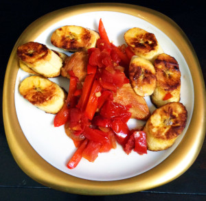 Paleo Costa Rican Chicken and Fried Plantain