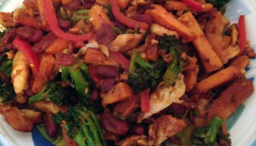 Spicy Chicken and Broccoli Stirfry